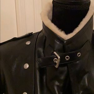 All Saints Jackets & Coats - All Saints Collins Leather Shearling Coat 6